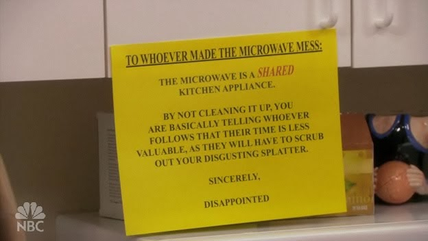 microwave note