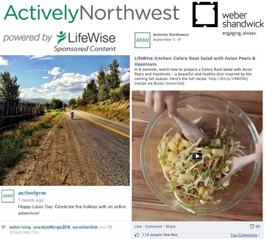 Actively Northwest – powered by LifeWise- Logo