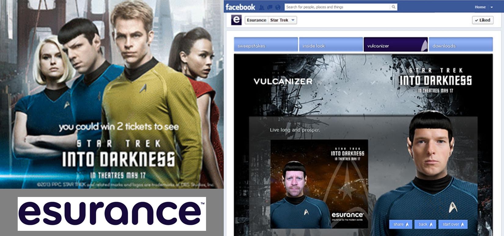 Esurance Promotes Star Trek Into Darkness- Logo