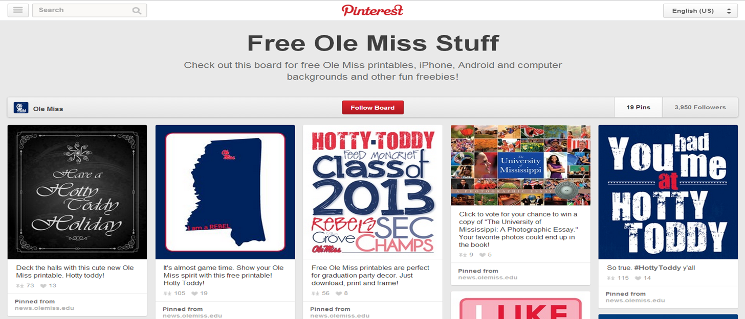 Ole Miss Pins the Day- Logo