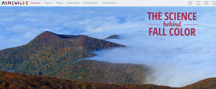 THE SCIENCE BEHIND FALL COLOR:  Destination immersion through digital storytelling- Logo