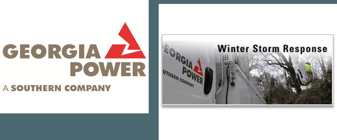 Ice Slams Georgia, Georgia Power Communication Heats Up- Logo