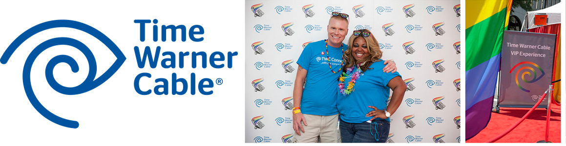 Time Warner Cable Supports Charlotte Pride 2014- Logo