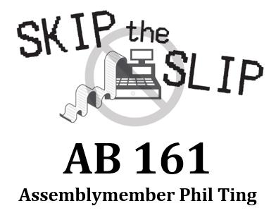 Skip The Slip—Yes on AB 161- Logo