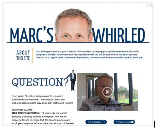 """""""Marc's Whirled Approach to Employee Comms"""""""