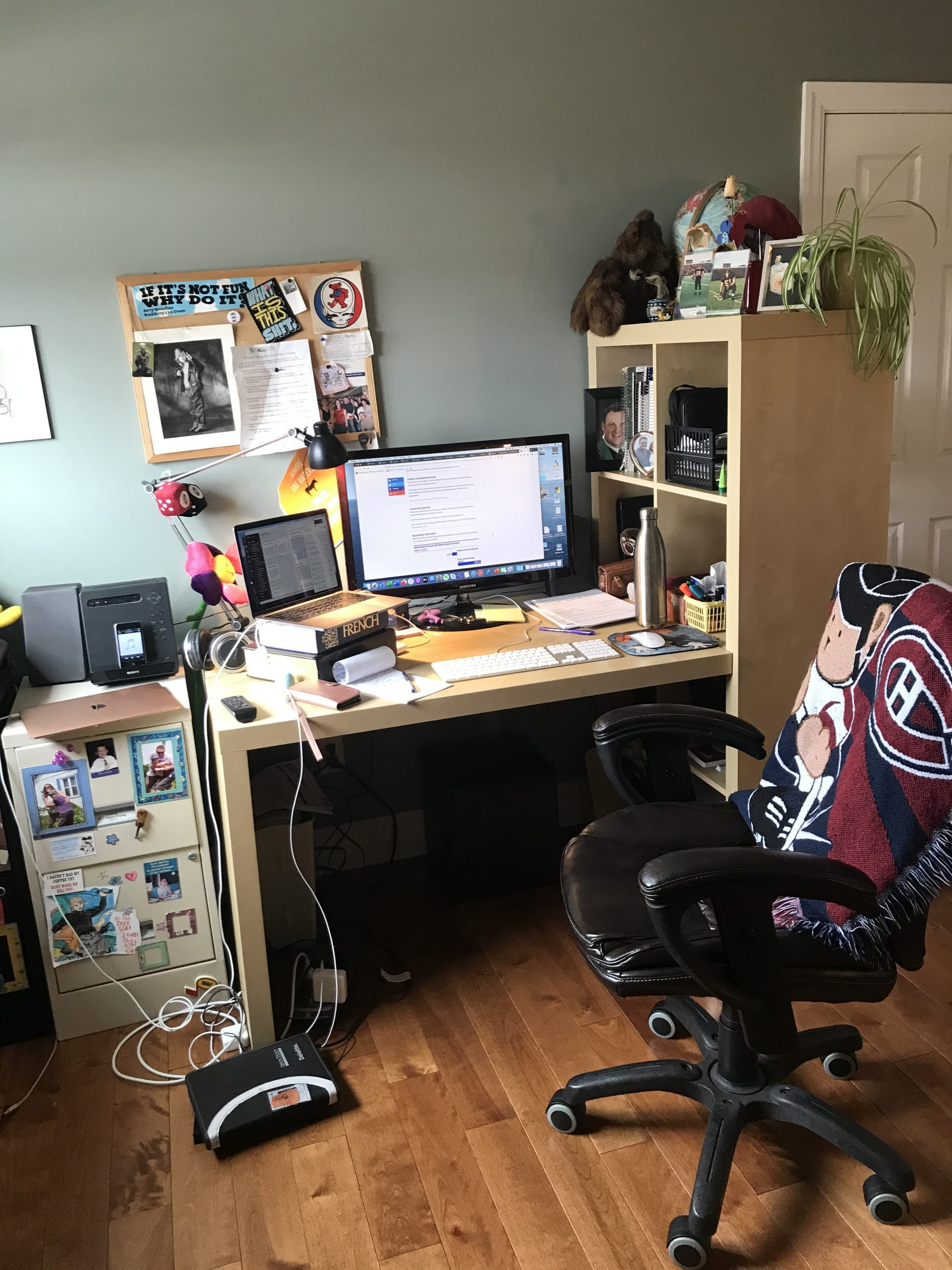 Working from home photo