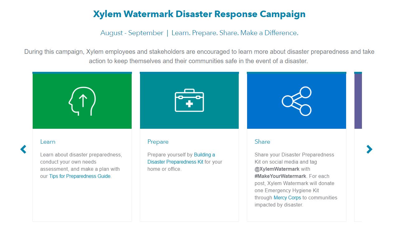 Xylem Global Humanitarian Disaster Response Team- Logo
