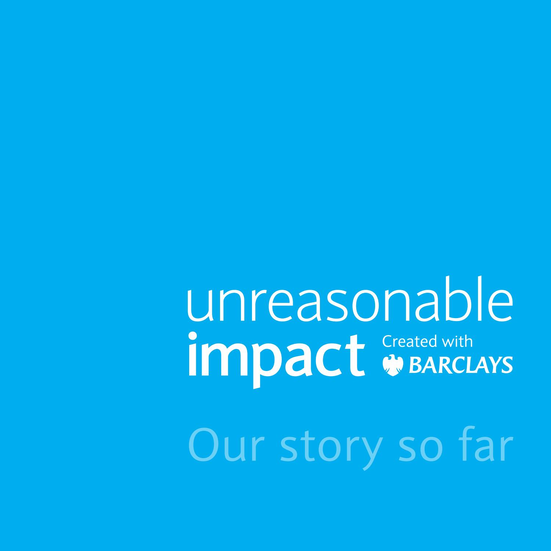 Unreasonable Impact report: Our story so far- Logo