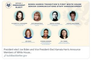 What Biden's all-women comms team means for the industry