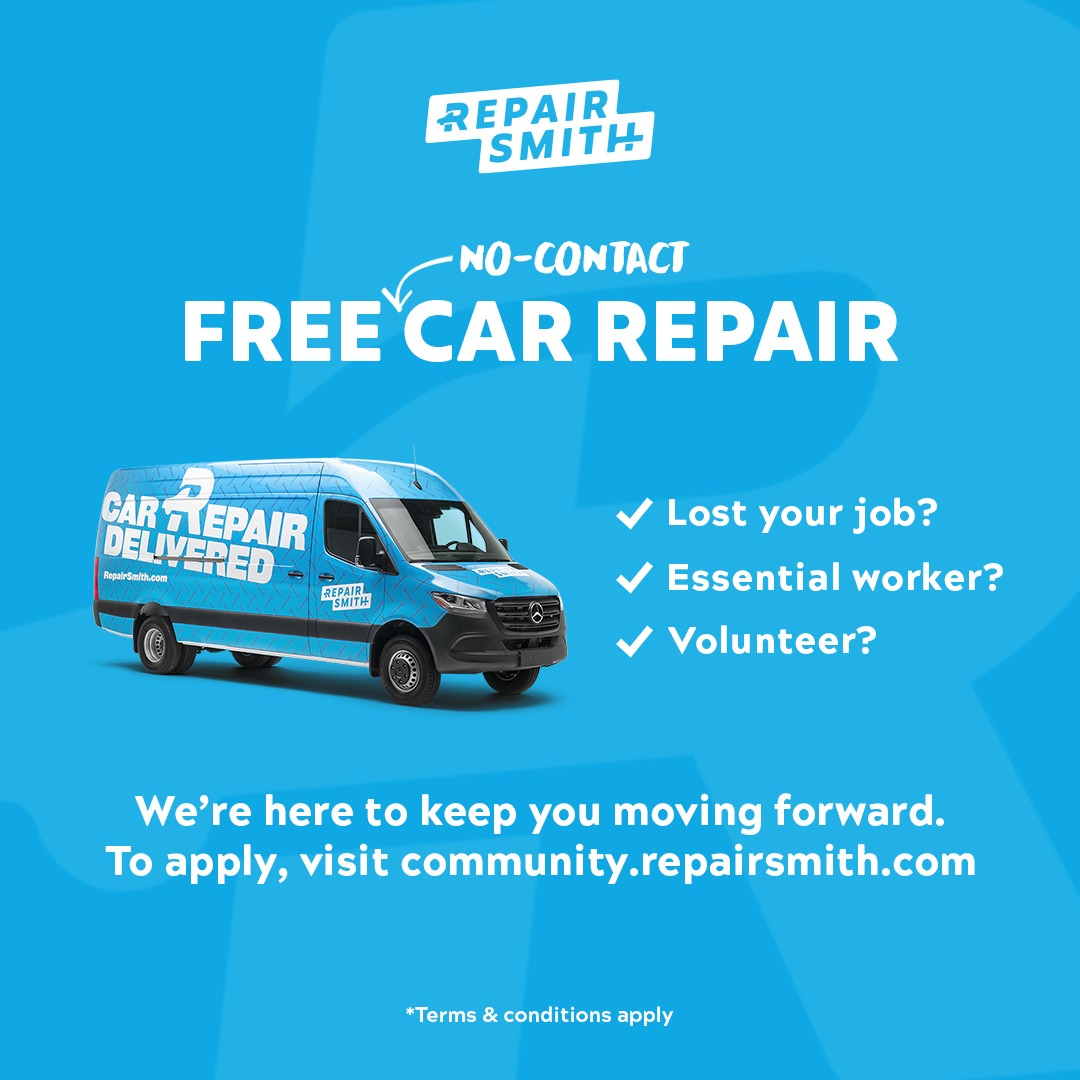 RepairSmith Donates $100K in Free, 'No-Contact Car Repair' Services to Support People Experiencing Hardship During the Coronavirus (COVID-19) Pandemic