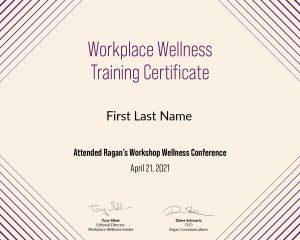 Workplace Wellness Training Certificate