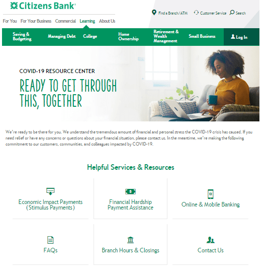 Citizens Bank COVID-19 Resource Center