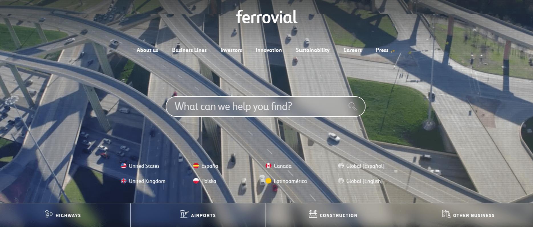 Ferrovial Global Website