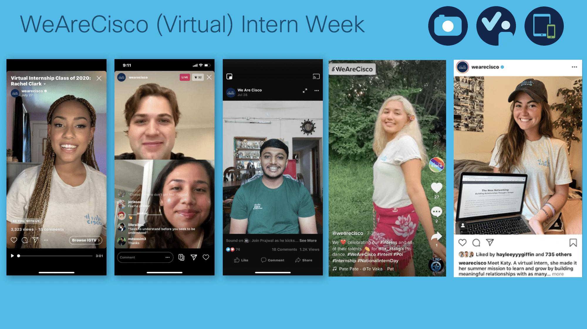 WeAreCisco (Virtual) Intern Week 2020 Campaign