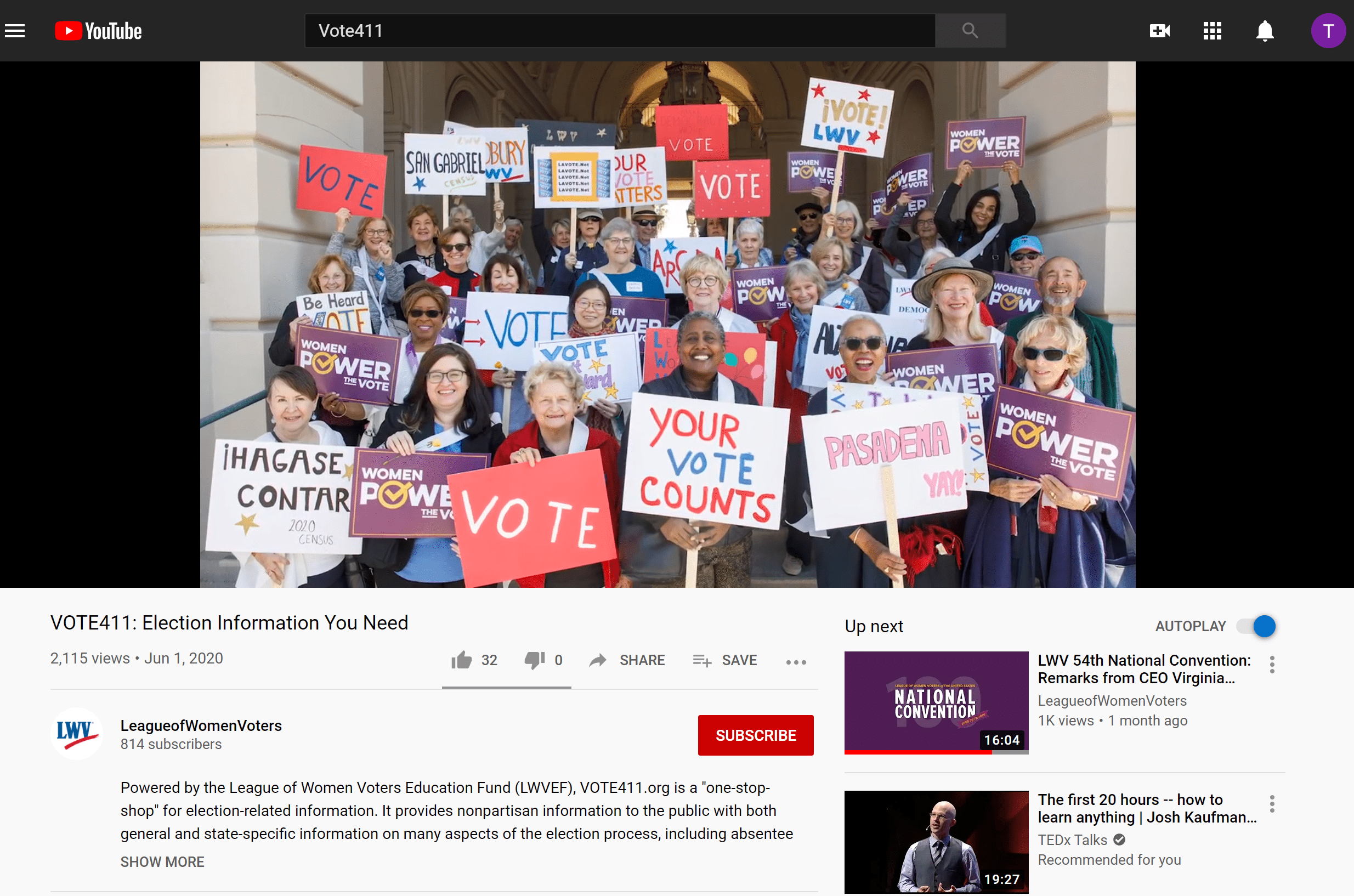 League of Women Voters of the United States & Vanguard Communications