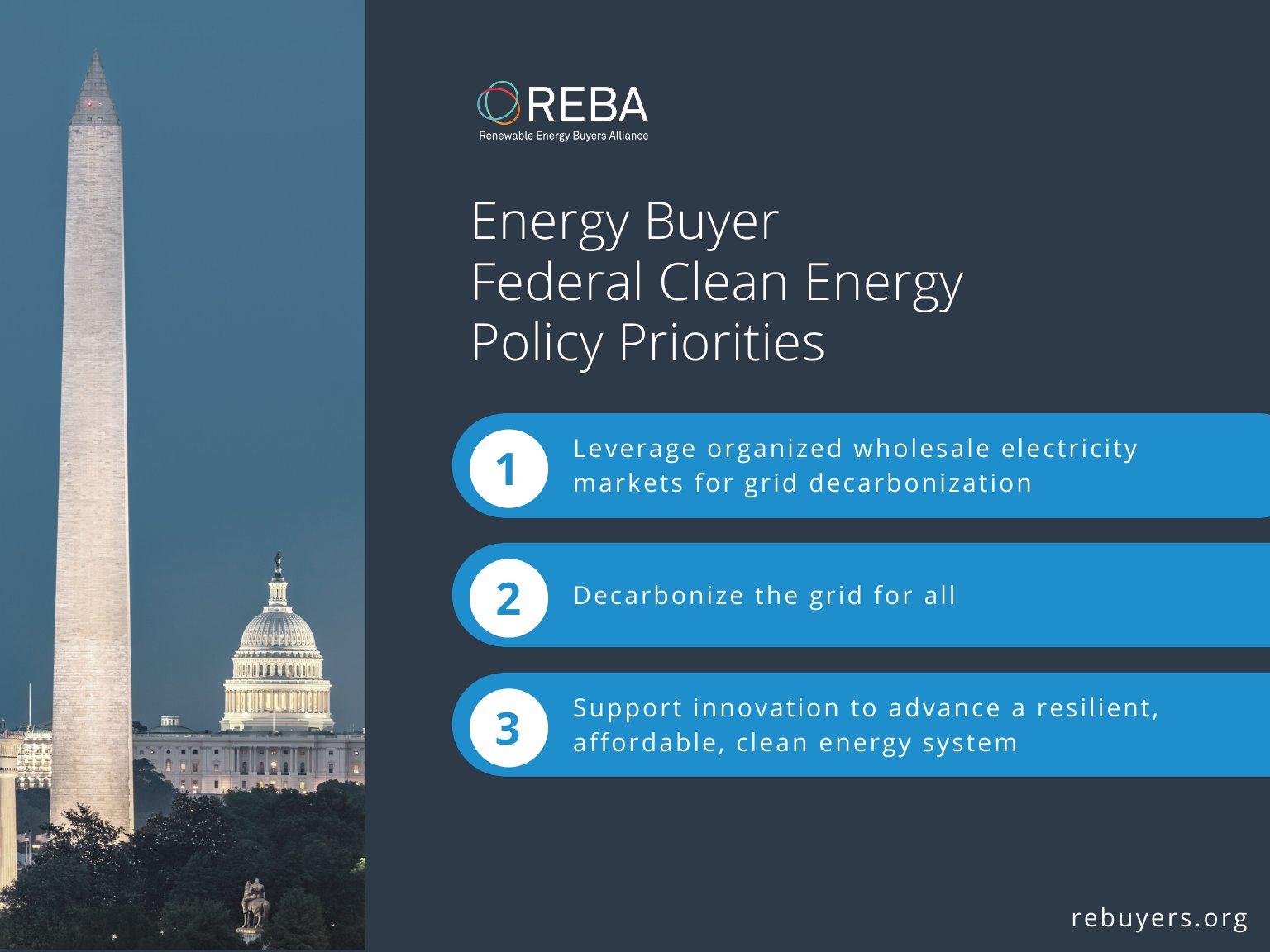 REBA Energy Buyer Federal Clean Energy Policy Statement 2021